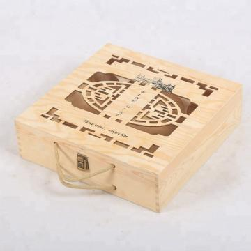 Buy Cheap Design Custom Natural Vintage Wood Wine Crate 4
