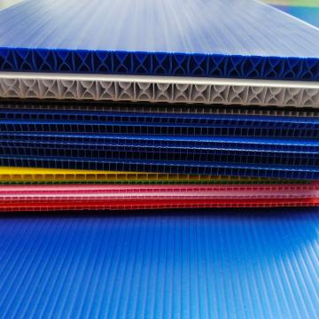 2019 Customized colourful Polypropylene Corrugated Hollow Board
