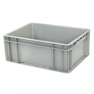 Warehouse Stackable Plastic Crate/ Nesting Container for Moving/ Attached Lid Tote Box