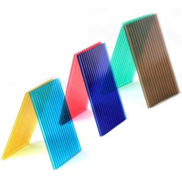 Plastic honeycomb roofing colored polycarbonate embossed sheet/sunsheet/ sun panel uv coating for skylight