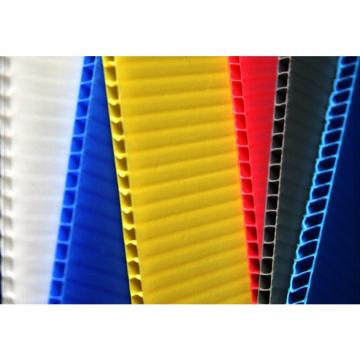 Best price 4mm white PP hollow board,corrugated plastic